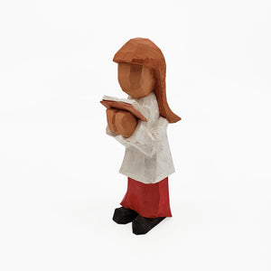 Hand Carved and Painted Choir Girl