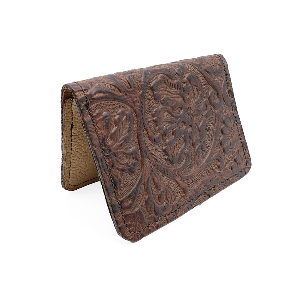 Floral Design Leather Wallet