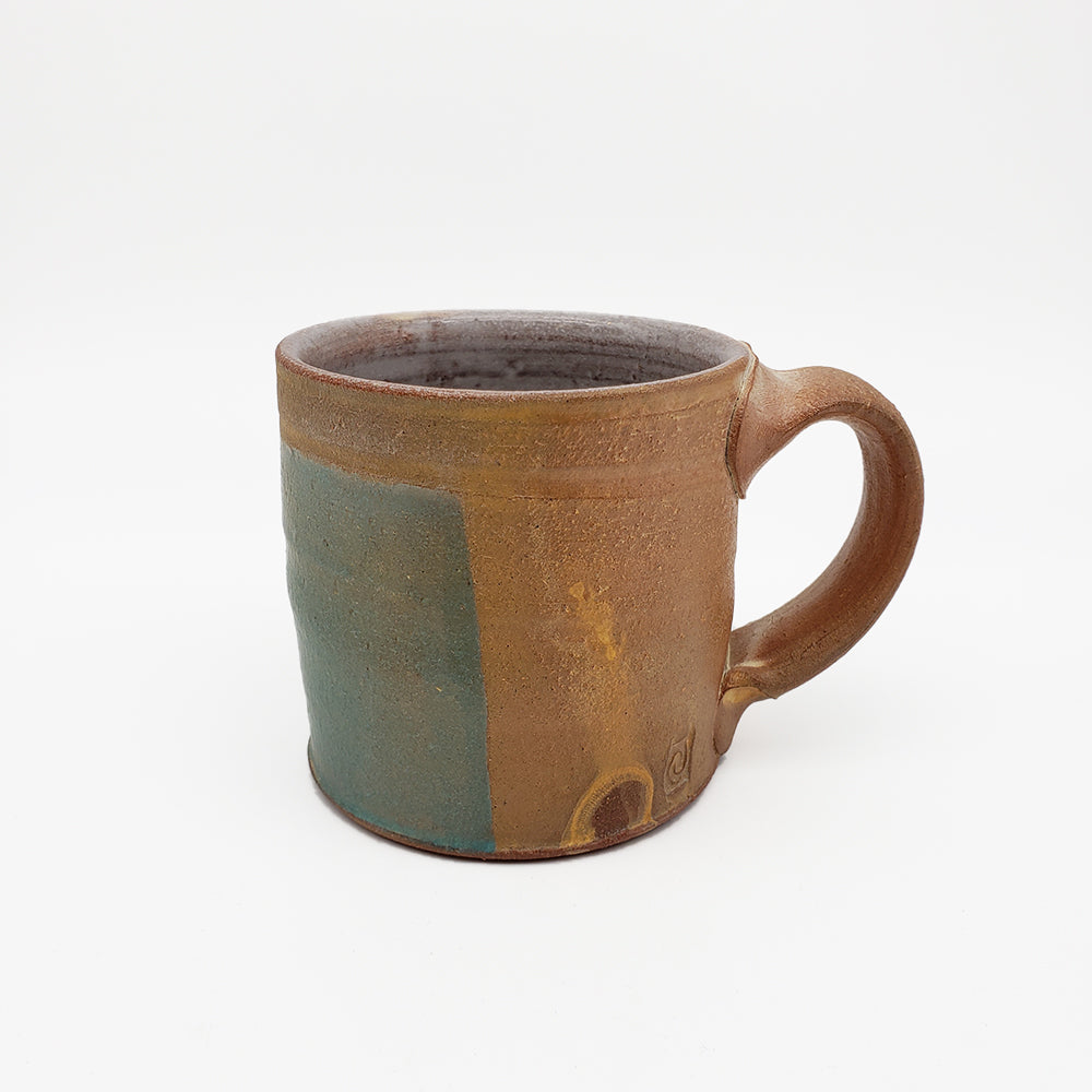 Brown and Blue Matte Mug