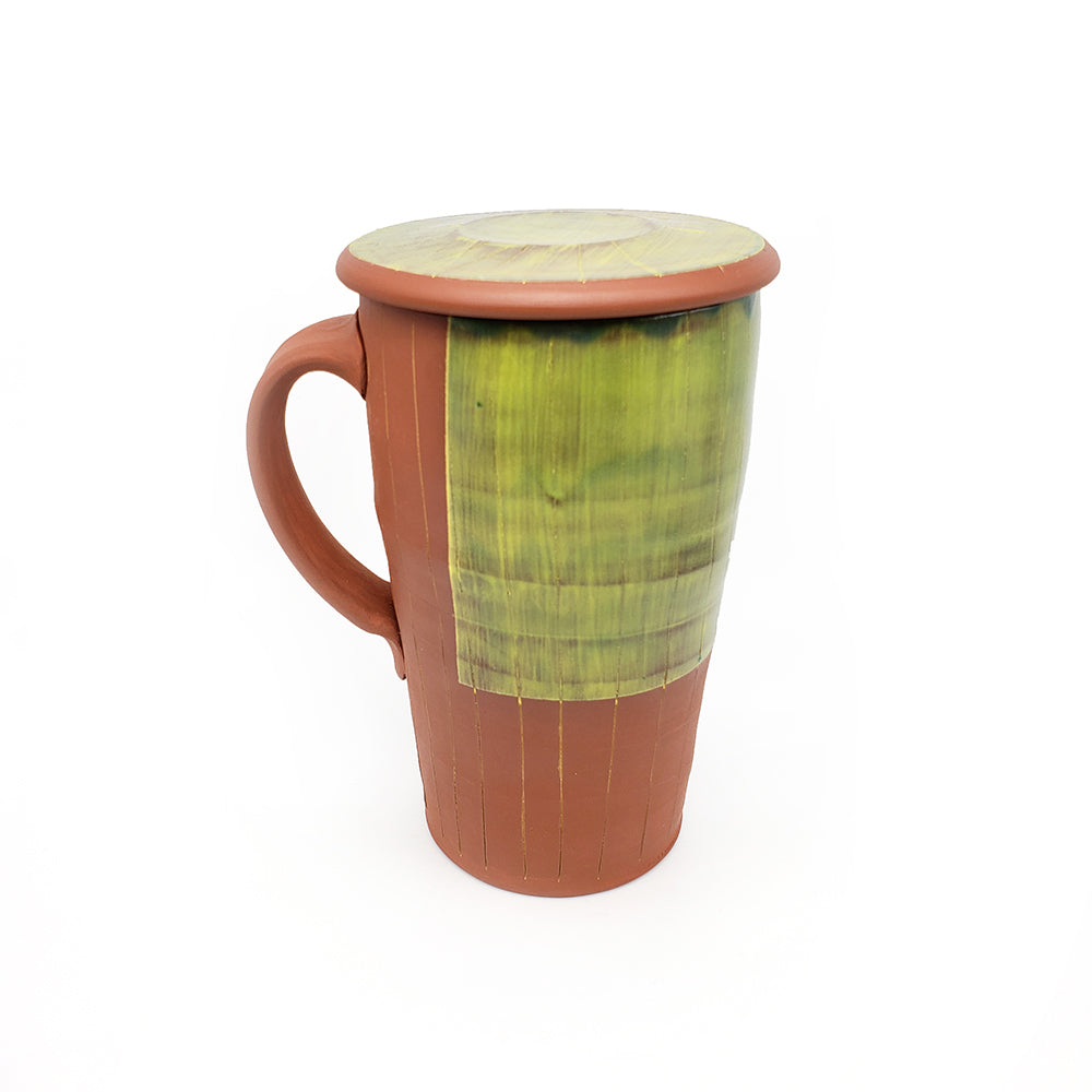 Lime Green Lidded Mug