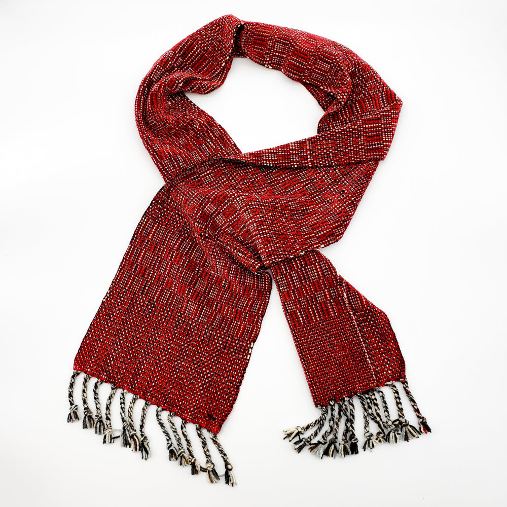 Wine Red Chenille Scarf