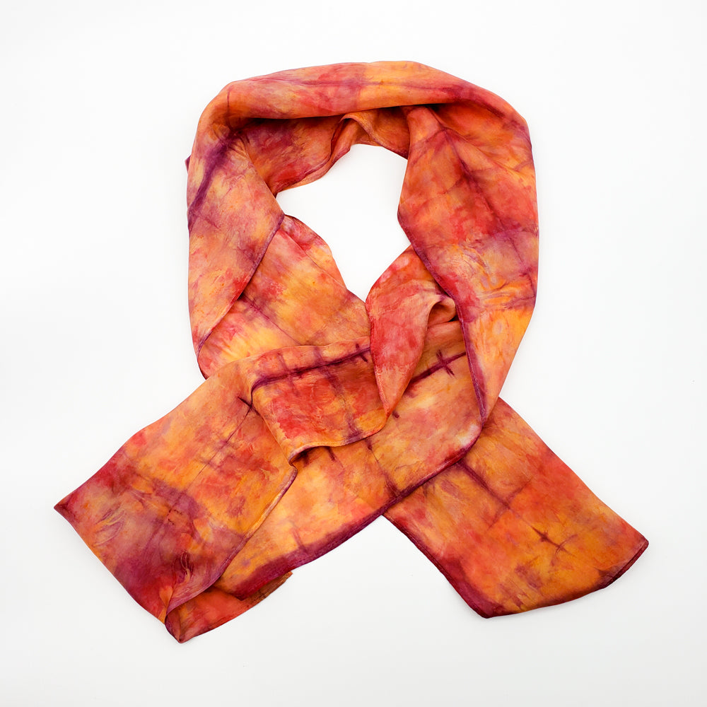 Rust & Purple Silk Scarf