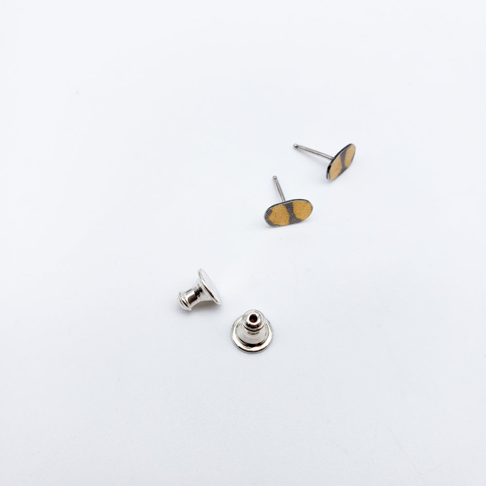 Load image into Gallery viewer, Earrings Sterling Stud With Keum Boo