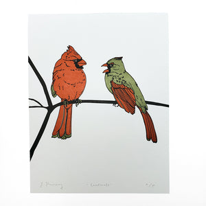 Load image into Gallery viewer, Cardinal Letterpress Print