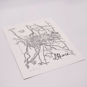 Load image into Gallery viewer, Ithaca Map Letterpress Print