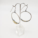 Earrings Sterling Hoop With Keum Boo
