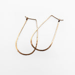 Open Hammered Cooper Earrings