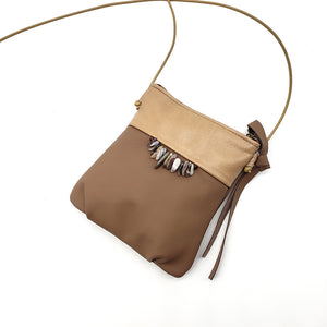 Load image into Gallery viewer, Cross-body Purse With Botswana Agate