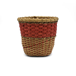 Small Basket With Seagrass Accent