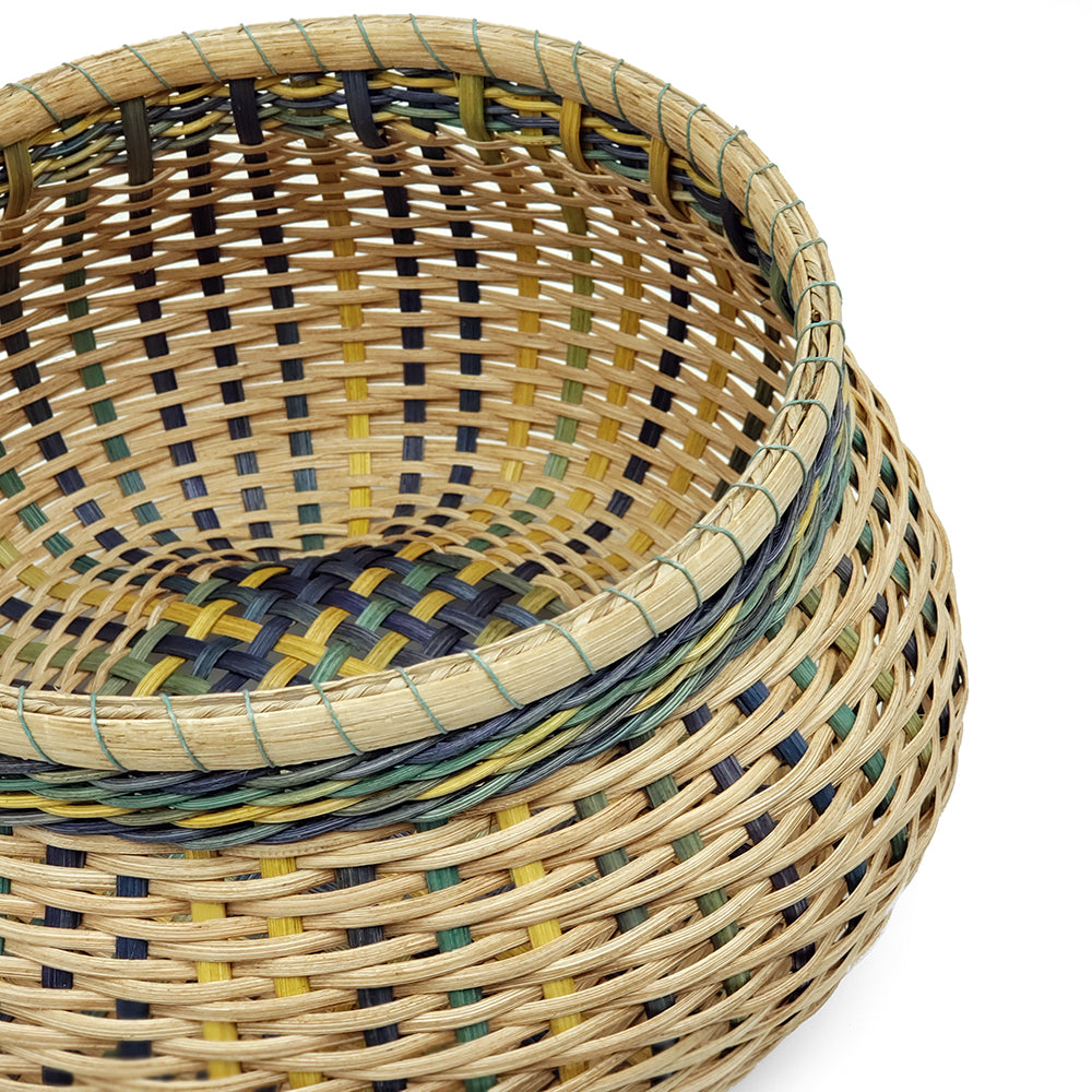 Basket Squashy Cathead With Dyed Reed
