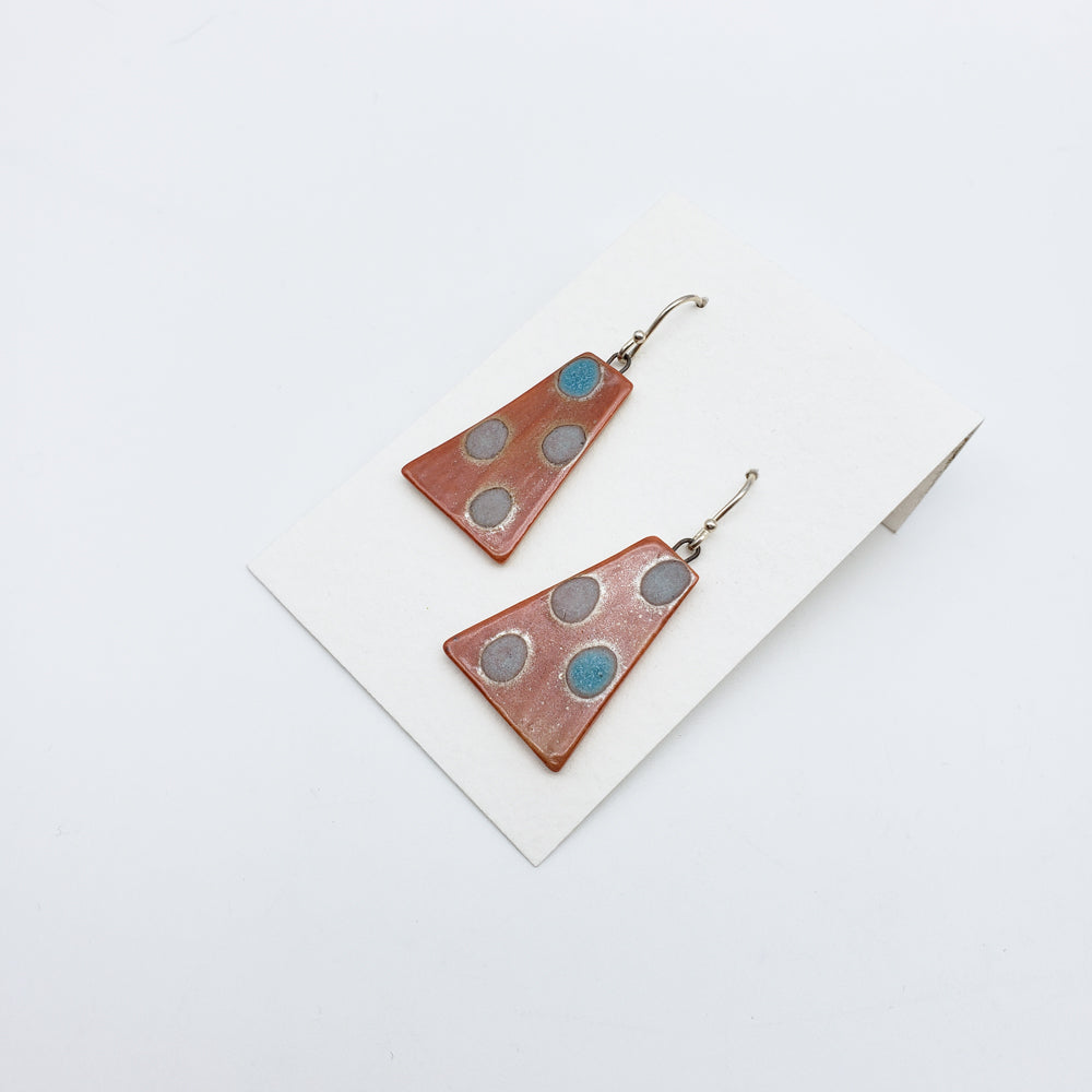 Load image into Gallery viewer, Brown Porcelain Earrings
