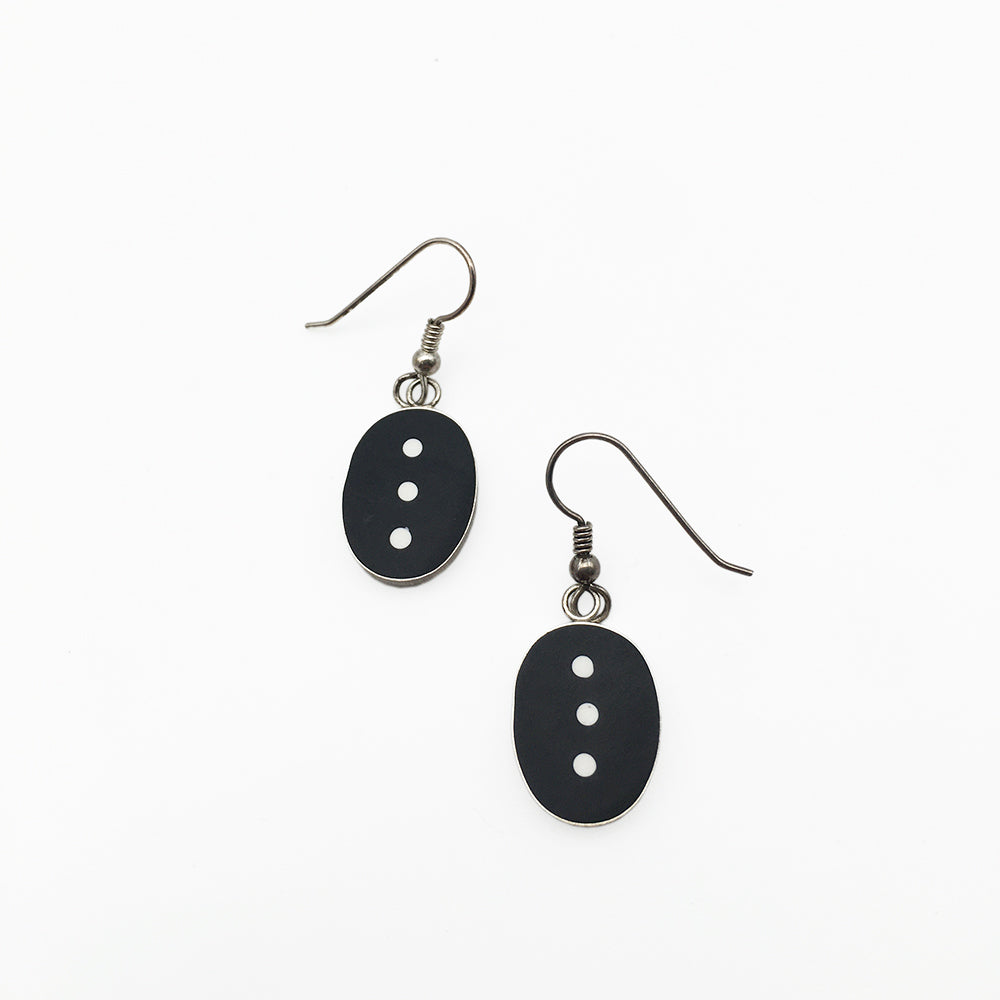 Black And White Dots Earrings