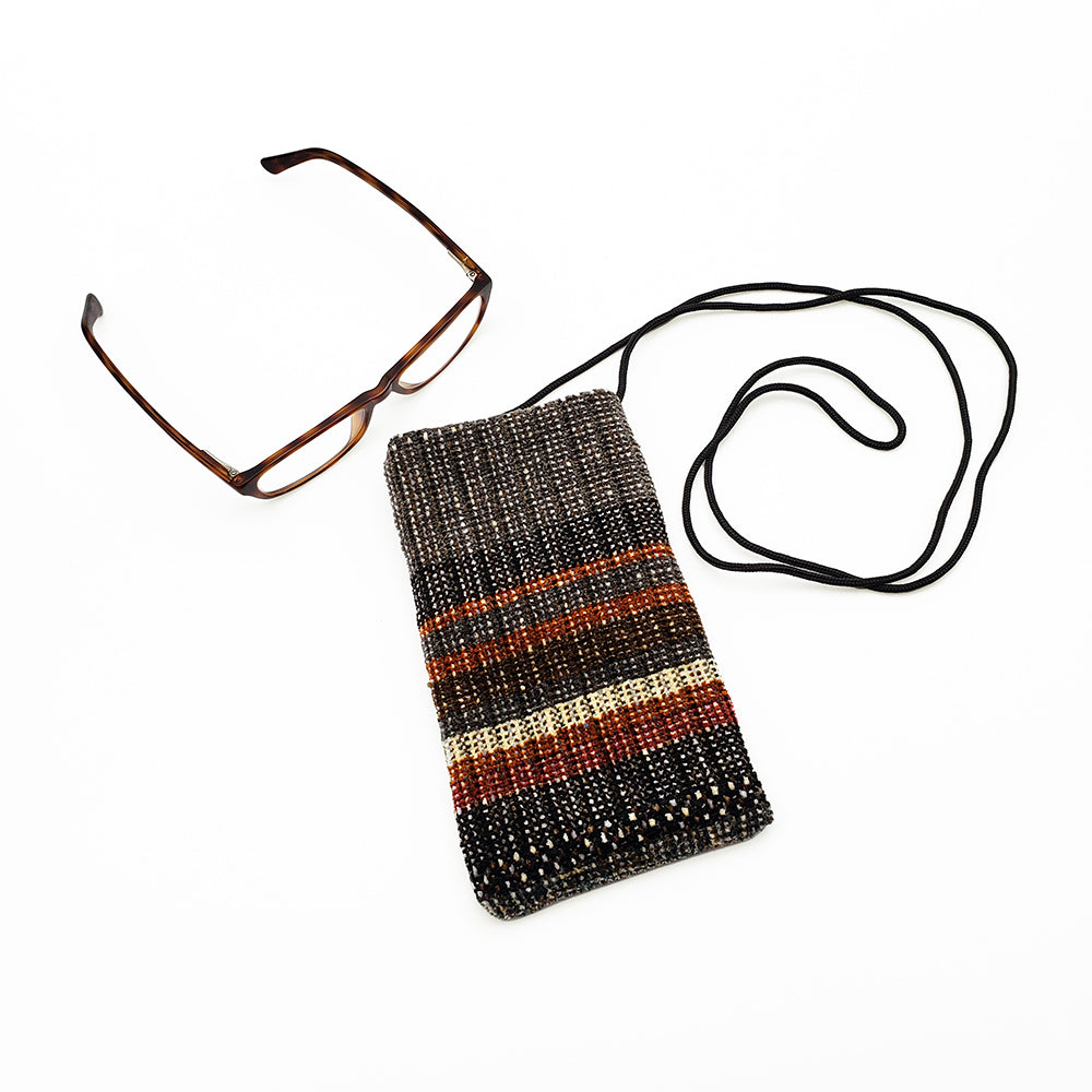 Striped Chenille Pouch