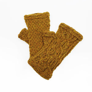 Goldenrod Cabled Mitts