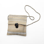 Hand-woven Beige Lake Stone Purse