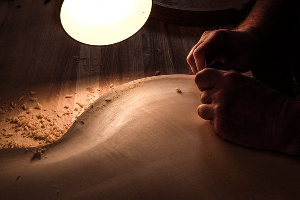 carving an archtop guitar