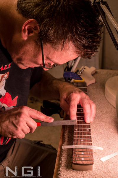 learn fret dressing at Nazareth Guitar Institute
