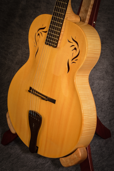 Custom Archtop Guitar With Flamed Maple