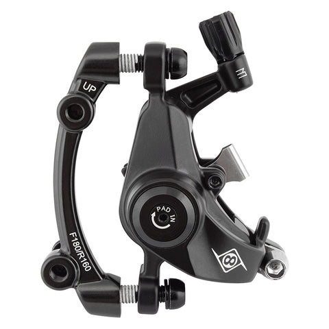 Origin8 Vise II PM MTB Mechanical Disc Brake FTor RR Black Caliper Only (J)