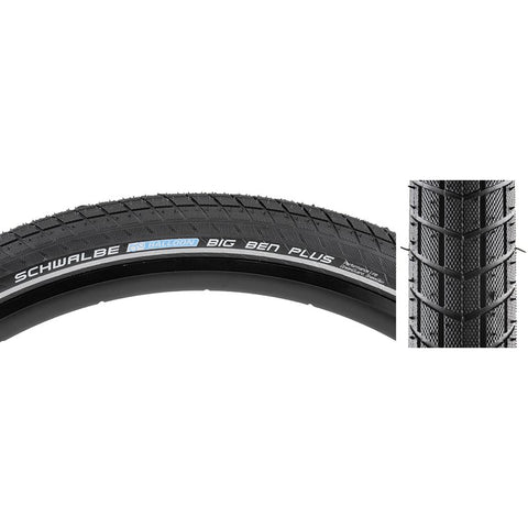 Schwalbe Big Ben Plus Perf SS Green Guard BK/BSK/REF E50 Wire Tire