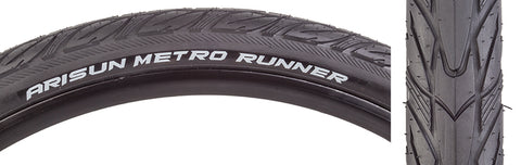 Arisun Metro Runner 27.5x1.75 WIRE/30 Tires Black
