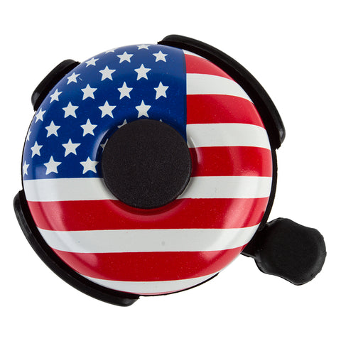 Sunlite 53mm Alloy Ringer Bell USA Flag