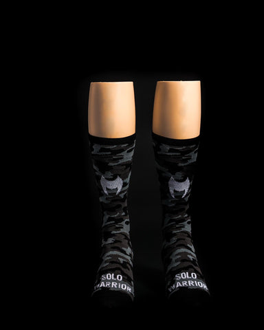 Camo Black Solo Warrior Socks