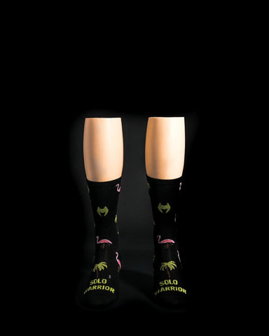 Miami Dade Black Solo Warrior Socks