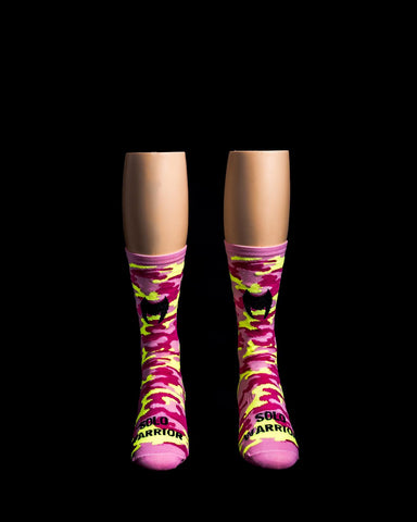 Camo Pink Solo Warrior Socks