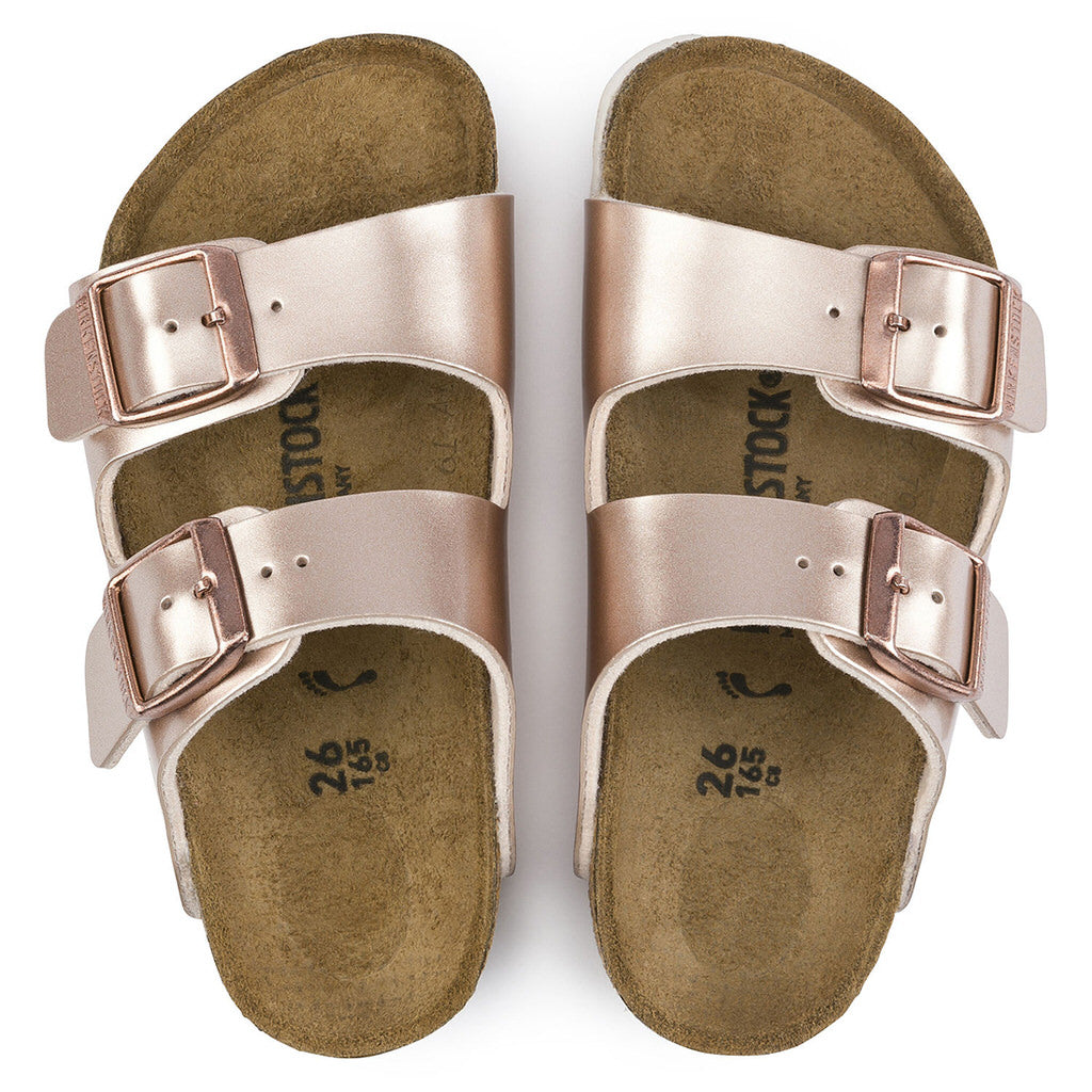 Arizona Birko Flor Kids (Narrow) - Metallic Copper - 1012478