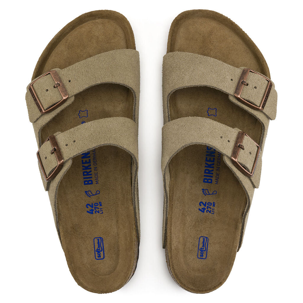 Arizona Suede Soft Footbed (Narrow) - Taupe - 951303