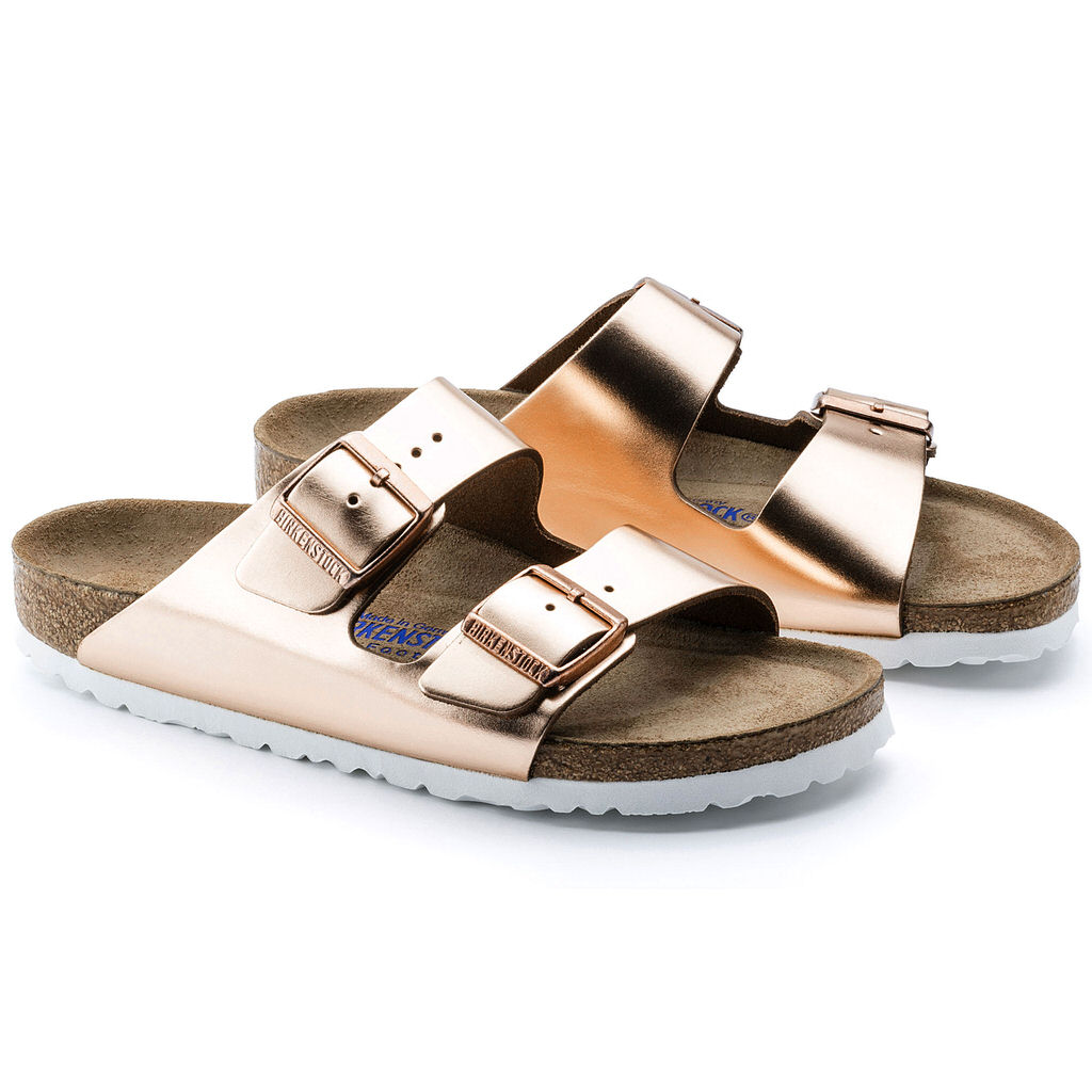 Arizona Leather Soft Footbed (Narrow) - Metallic Copper - 952093