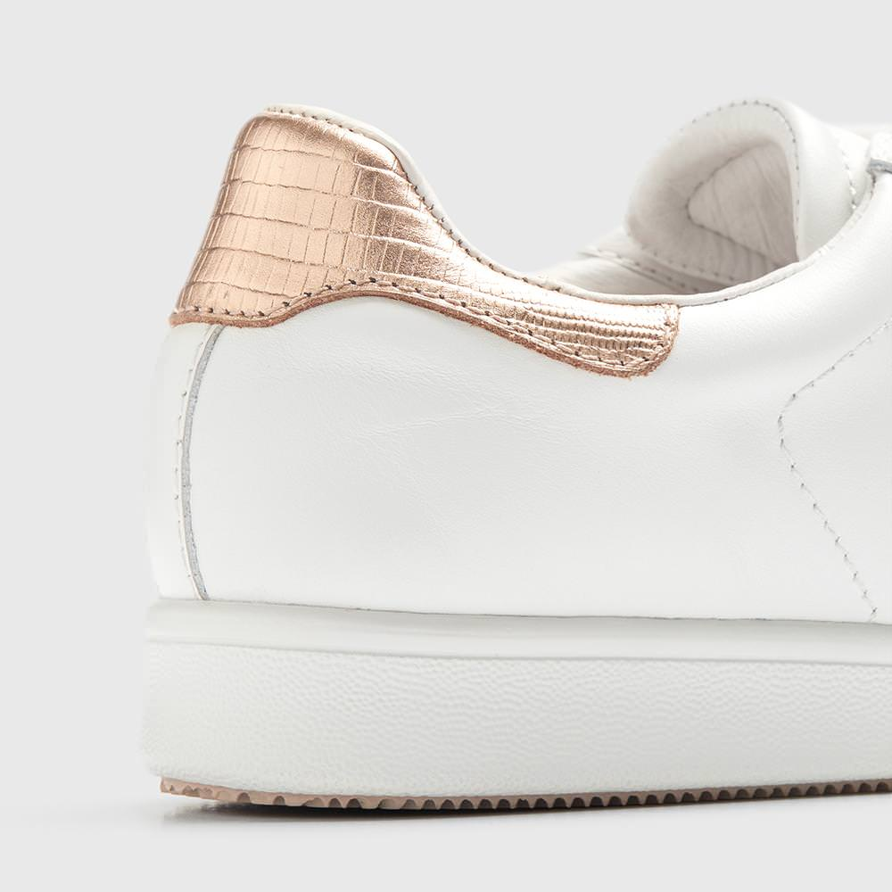 Jackie - White/Rose Gold