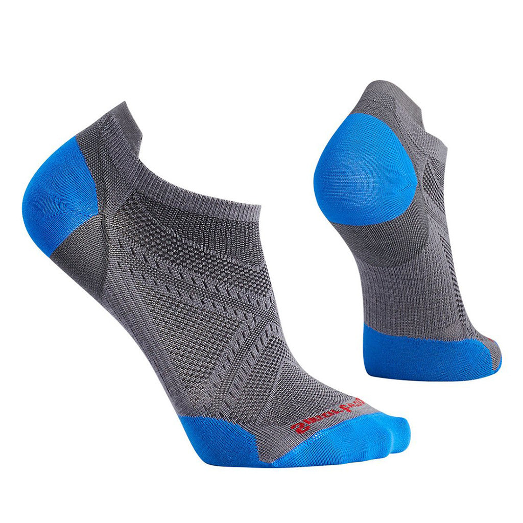 Mens PhD Run Ultra Light Micro Socks - Graphite/Bright Blue