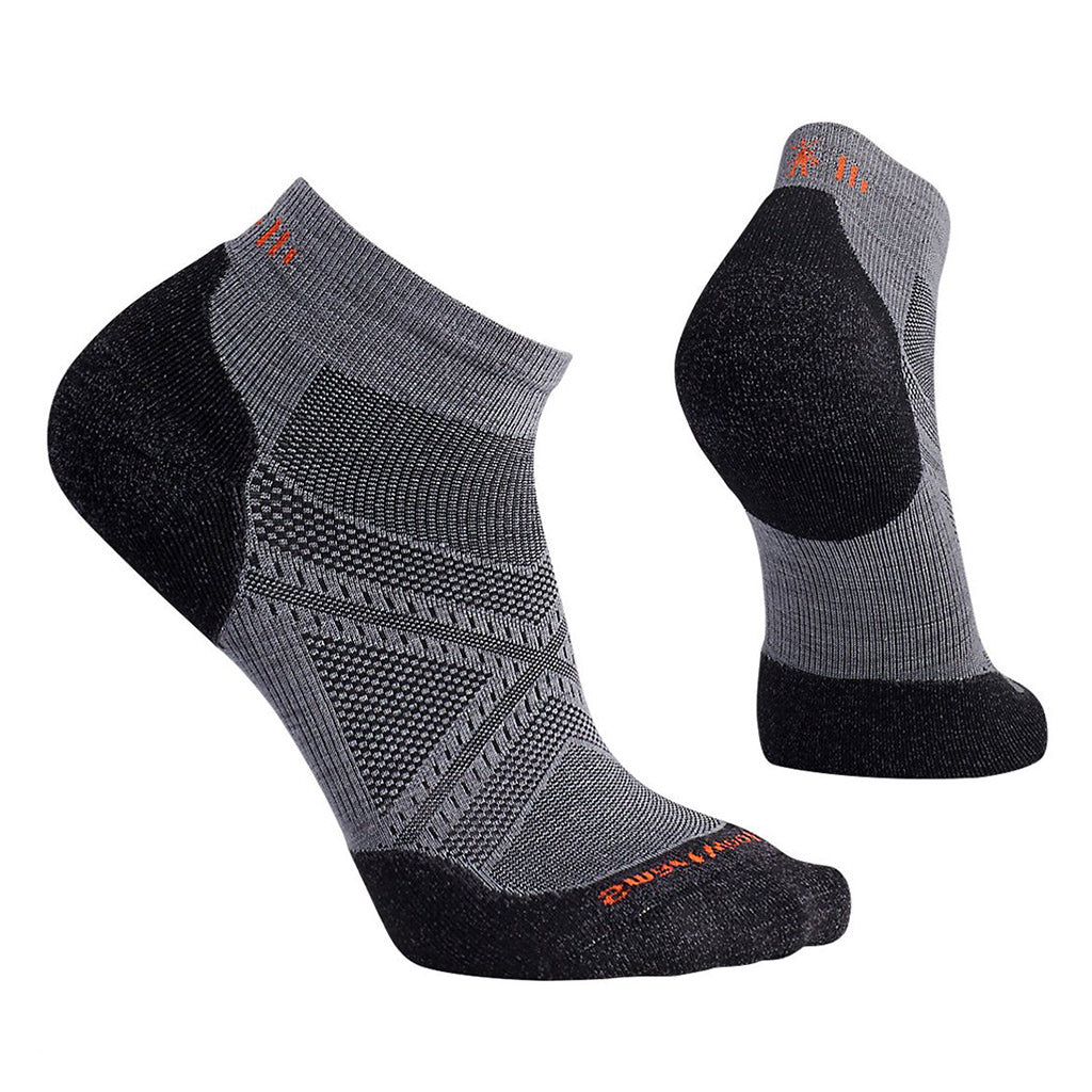 Mens PhD Running Light Elite Low Cut Socks - Graphite
