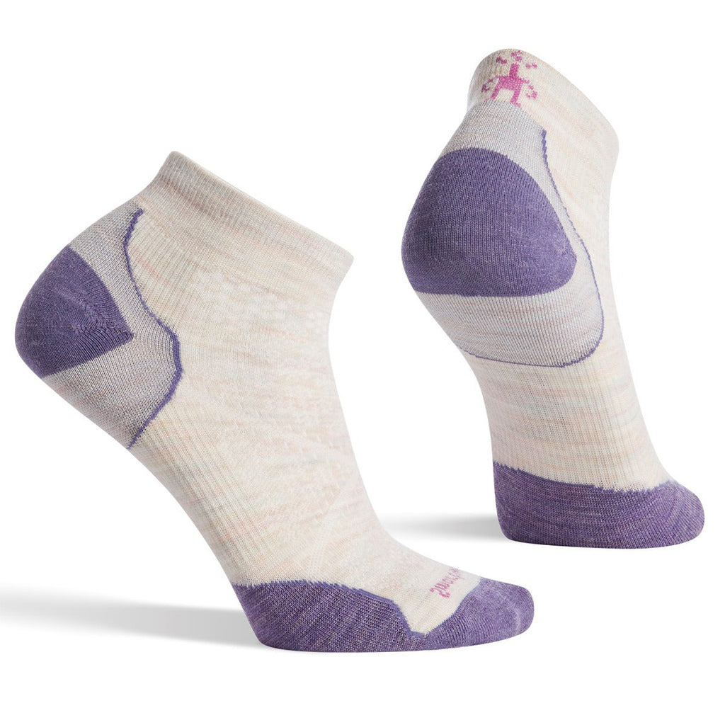 Womens PHD Run Ultra Light Low Cut Socks - Moonbeam