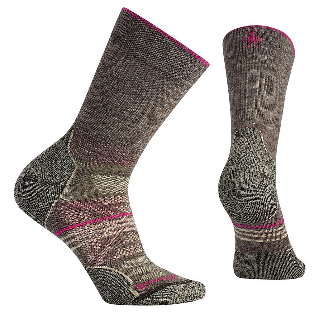 Womens PhD Outdoor Light Crew Socks - Taupe