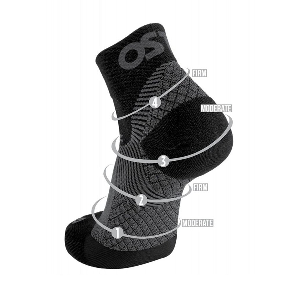 Plantar Fasciitis No Show Socks - Grey