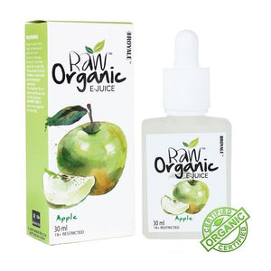 Raw Organic E-juice - Apple 30ml