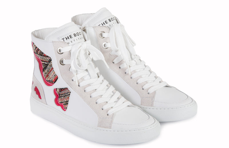 Barcelona Butterfly Sneakers White Leather