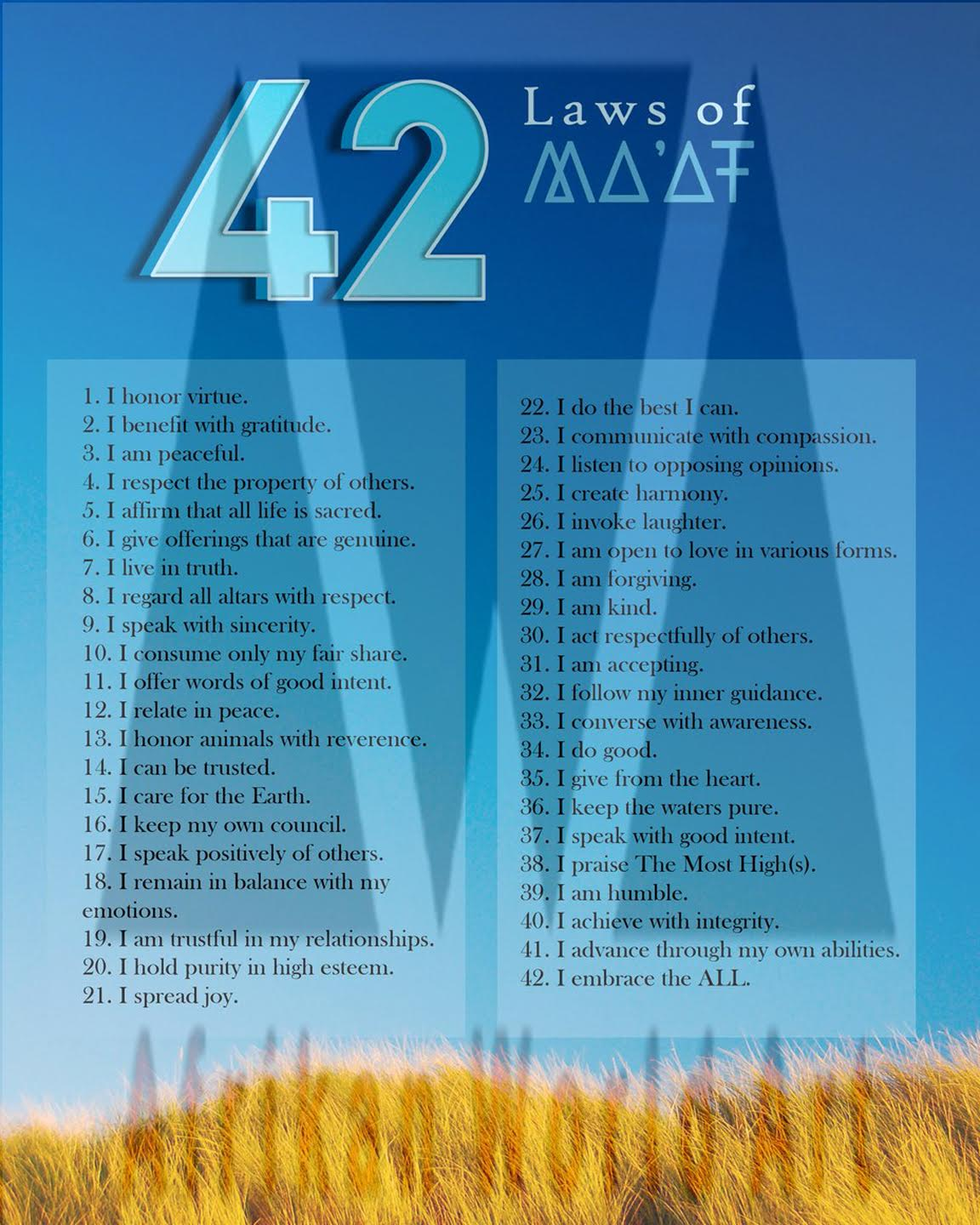 Laws of Maat