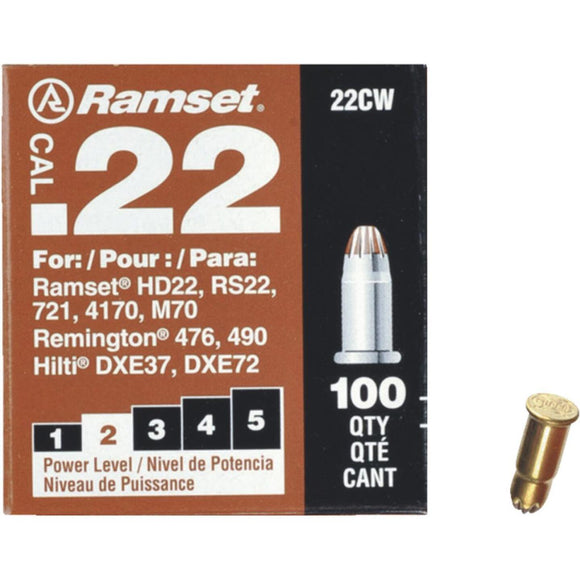 Airsoft Innovations Bang .22 Cartridges - Ramset Brown (Indoor) .22 x 16mm 22CW