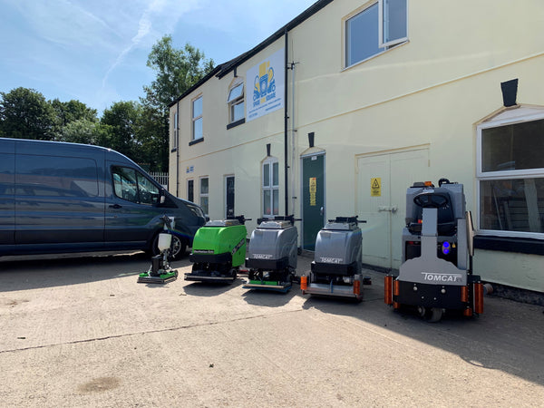 TomCat cleaning machines at Spare and Square