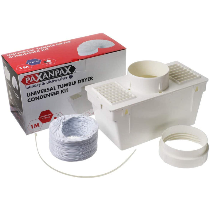 Universal Tumble Dryer Indoor Condensing Vent Kit Box And Hose