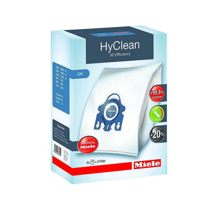 Genuine Miele GN Hyclean 3D Dustbags And Filter Set