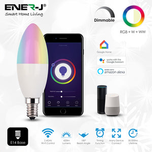 Smart WiFi LED Candle Lamp Dimmable 4.5W - Pack of 3