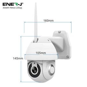 Smart Wifi IP Outdoor Dome Camera IP65 - 1080P HD - 5 x Zoom - Night Vision