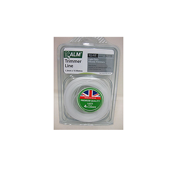 ALM SL115 Universal Strimmer Line Wire - Round Trimmer Line - 15m 1.3mm