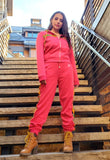 Tracksuit Set (Rose Red) - Nganoh