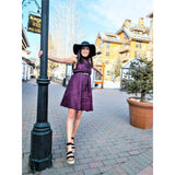 Tie dye Maya Dress in Black And Purple - Nganoh